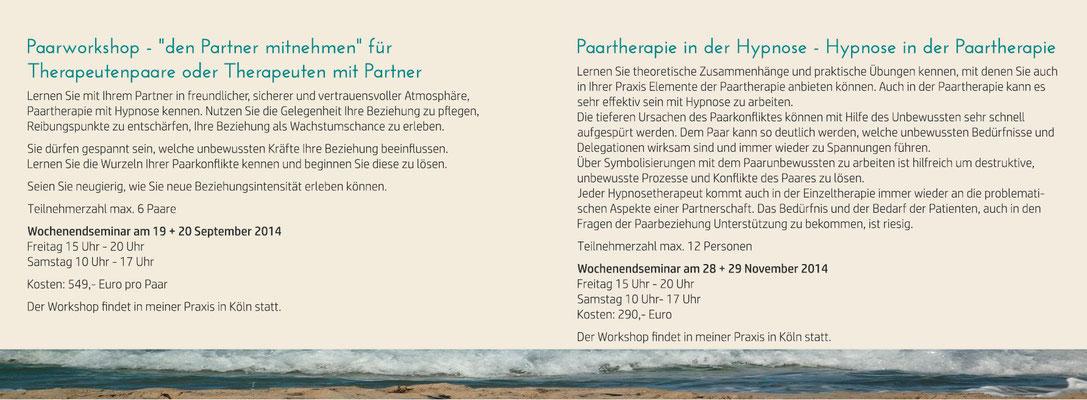 blickpunkte design: Werbe- und Infokarte für Workshops Praxis Kirsten Vogt Innenseite