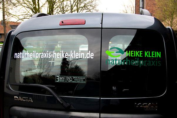 blickpunkte design Autowerbung Naturheilpraxis Heike Klein