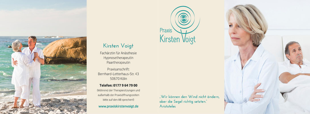 blickpunkte design: Werbe- und Infokarte für Workshops Praxis Kirsten Vogt  Außenseite