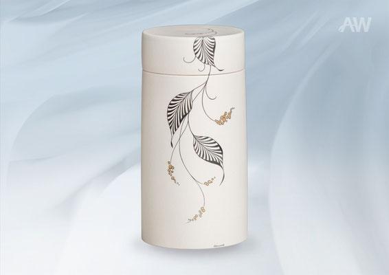 Zylinder weiss mit Malerei