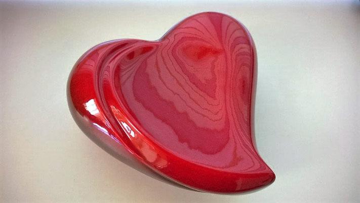 Coeur Keramikherz rot