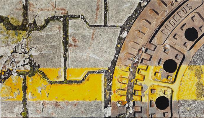 Grenzgelb6, Öl auf Leinwand, 95 x 55 cm, 2013