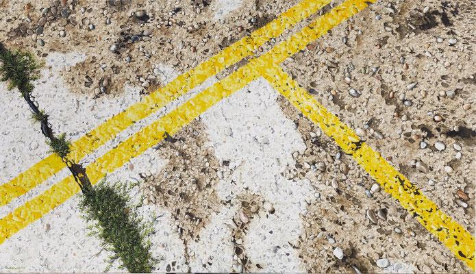 Grenzgelb4, Öl auf Leinwand, 165 x 95 cm, 2013