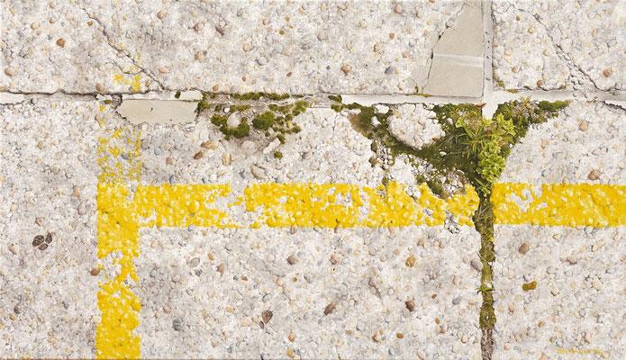 Grenzgelb8, Öl auf Leinwand, 95 x 55 cm, 2014