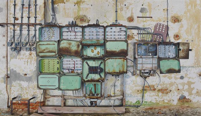 Ausser Betrieb, Öl auf Leinwand, 165 x 95 cm, 2014