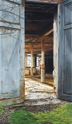 Halbmond 99, Öl auf Leinwand, 95 x 165 cm, 2014