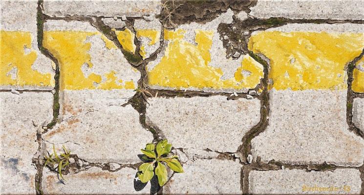 Grenzgelb13, Öl auf Leinwand, 55 x 30 cm, 2013