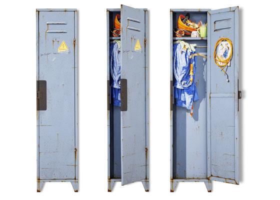 Stillleben 3, Öl/Acryl auf Holz und Leinwand, 180 x 40 x 7 cm, aufklappbar, 2020