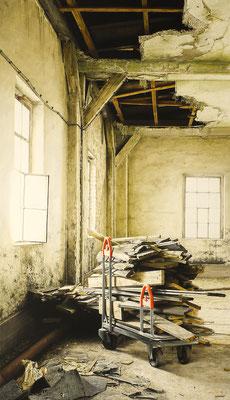 Brandlast, Öl auf Leinwand, 165 x 95 cm, 2019