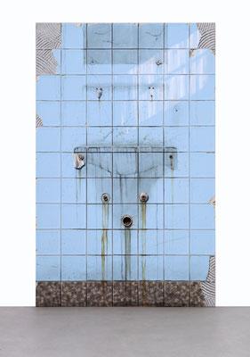 Spiegel, Öl/Acryl auf Leinwand, 105 x 165 cm, 2018