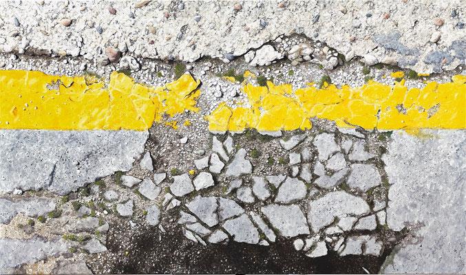 Grenzgelb5, Öl auf Leinwand, 165 x 95 cm, 2013