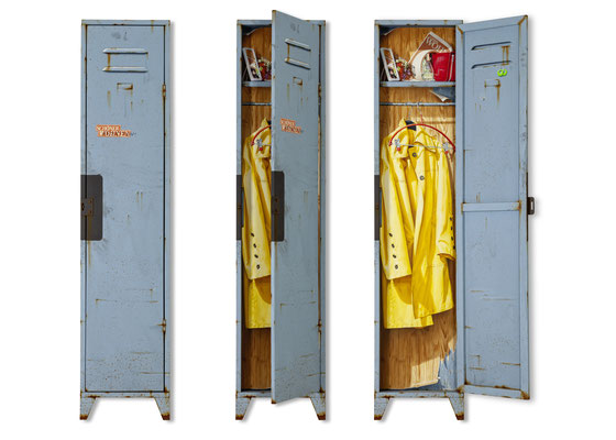 Stillleben 1, Öl/Acryl auf Holz und Leinwand, 180 x 40 x 7 cm, aufklappbar, 2019