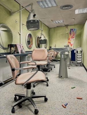 Nur mit Waschen, Öl auf Leinwand, 140 x 90 cm, 2020