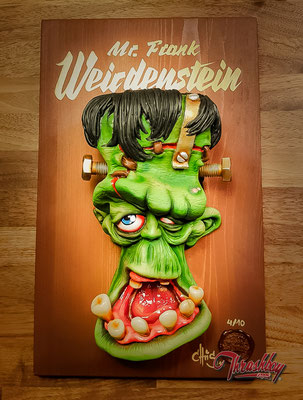 """Key Hanger Board """" Mr. Frank Weirdenstein"""", limited edition of 10"""