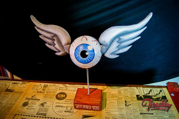 Flying Eye the first, handcarved, handpainted, one of a kind