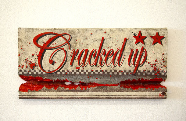Cracked up , 120x60 cm