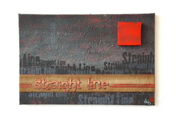 Straight line , 90x50 cm