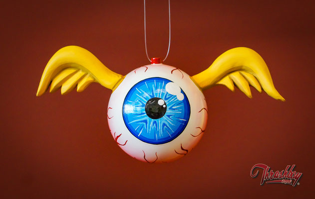 Flying Eye handmade, handpainted