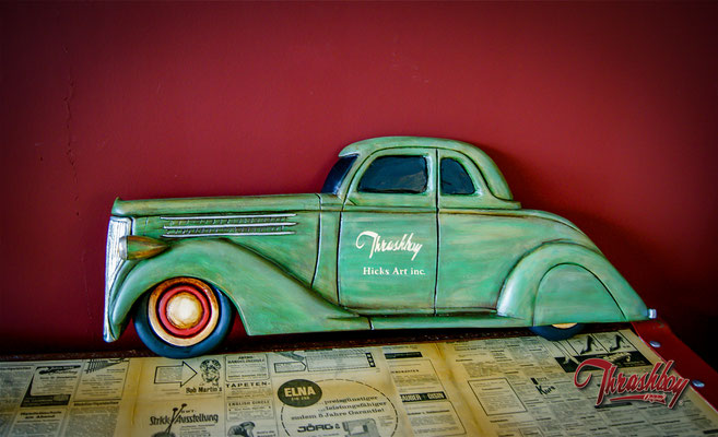 Ford 36, hand carved, handpainted, one of a kind