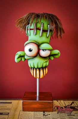Freaky, handcarved out of styrofoam, handpainted, one of a kind