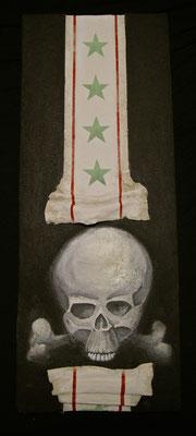 Skull , 50x120 cm