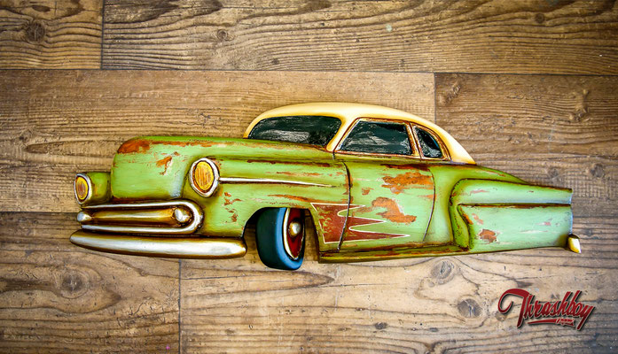 Handcarved, handpainted wallhanger, one of a kind