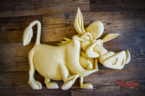 Pumbaa, handcarved, handpainted one of a kind