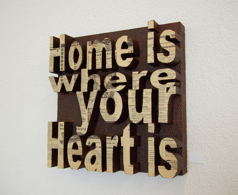 Home is Heart , 60x60 cm