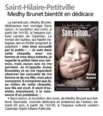 Article dans « La Presse de la Manche ».