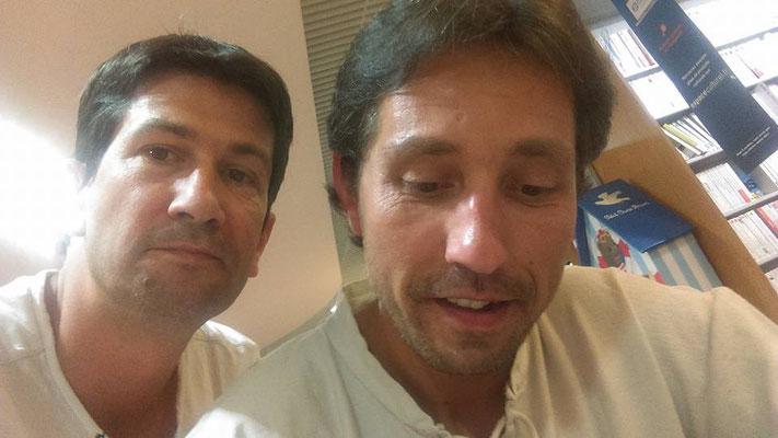 Mehdy Brunet avec Frédéric, un fan...