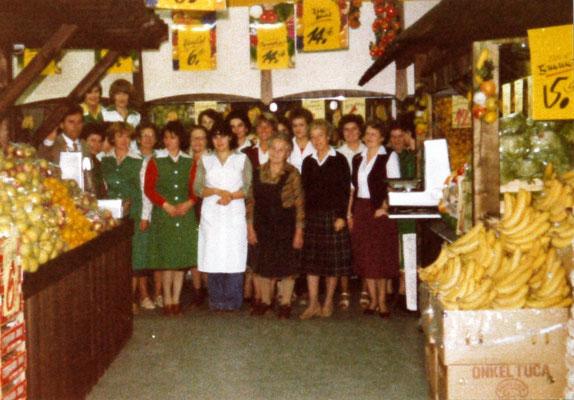 Die Steinberger-Crew bei der Eröffnung 17.10.1979