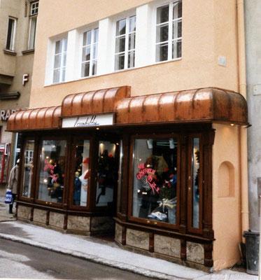 Neue Fassade der Boutique PICCADILLY 1987