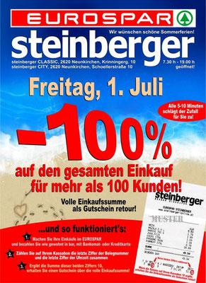 -100% auf den gesamten Einkauf  am 1. Juli 2011