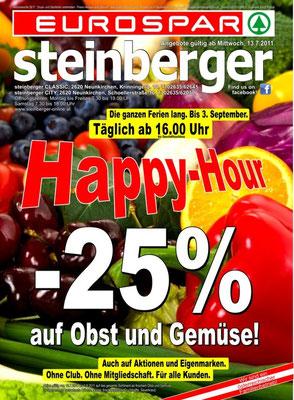 HappyHour bei Obst & Gemüse während der Sommermonate 2011
