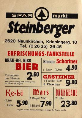 Steinberger-Flugblatt 1972