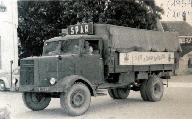Einer der ersten SPAR LKW's der VAUKO Neunkirchen