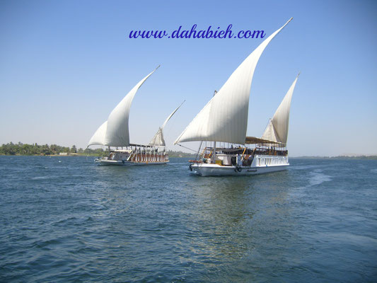 croisière en dahabieh sur le Nil en Egypte.