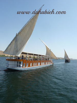 nile sailing dahabiya in Upper Egypt