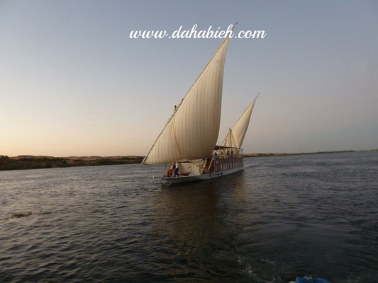 en dahabieh sur le Nil en Egypte