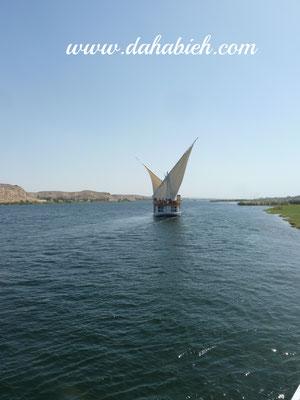 croisiere en dahabieh sur le Nil en Egypte.