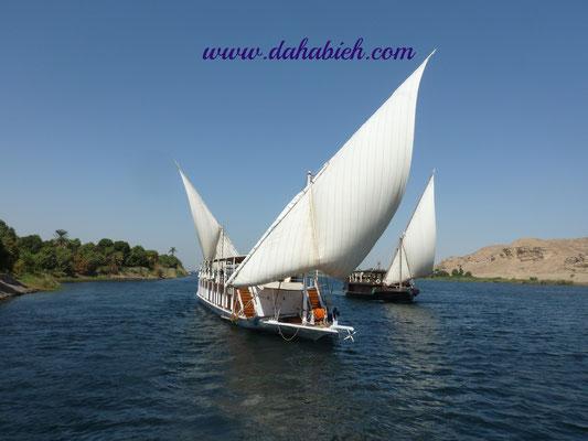 en dahabyea sur le Nil en Egypte.