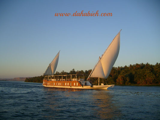 croisière en dahabeya sur le Nil en Egypte