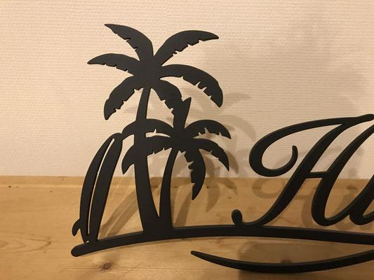 ハワイアンなアイアン表札