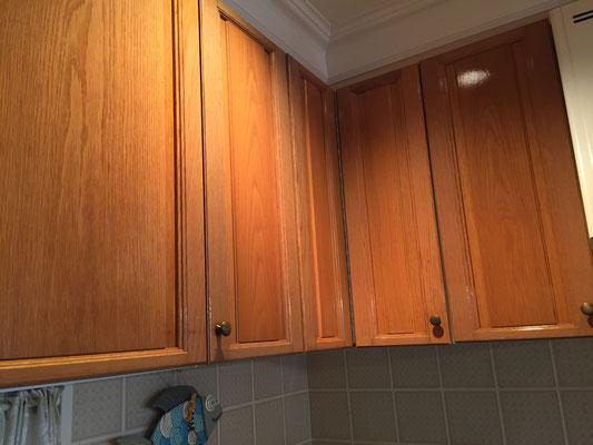 システムキッチン扉塗装後