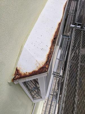 腐っていた出窓の屋根