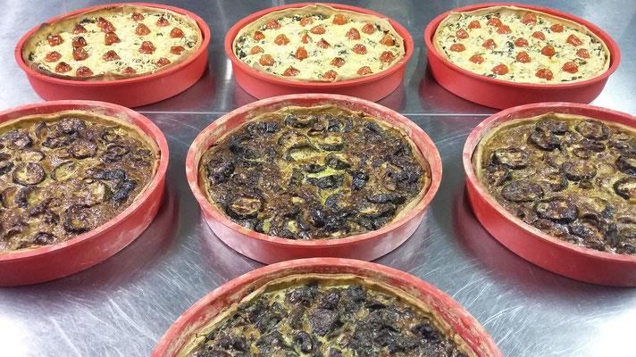 7 Hartige taarten voor 40 - 50 personen