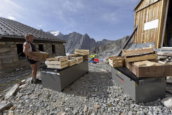 Récupération du bois du chantier...