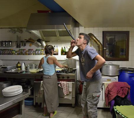 Le brame du cerf interprété par Romain et Nadège à la crêpe party !