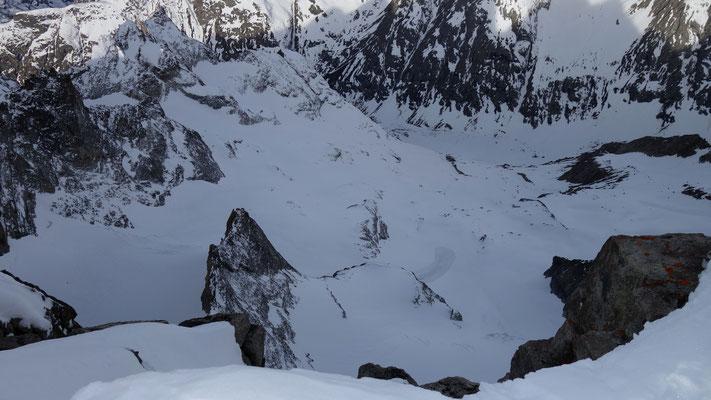 Conditions au 31 mars du glacier de la Grande Ruine ( vallon des Etançons )
