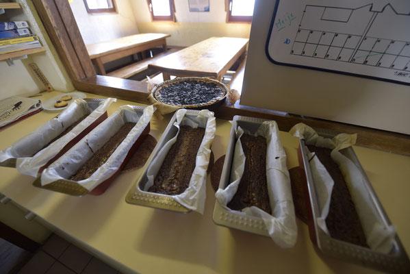 Tarte aux myrtilles et fondants au chocolat...